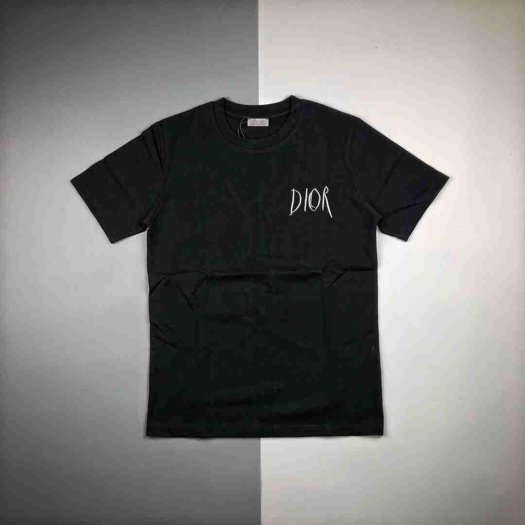 Dior迪奥 20SS艺术家签名字母刺绣Logo短袖T恤