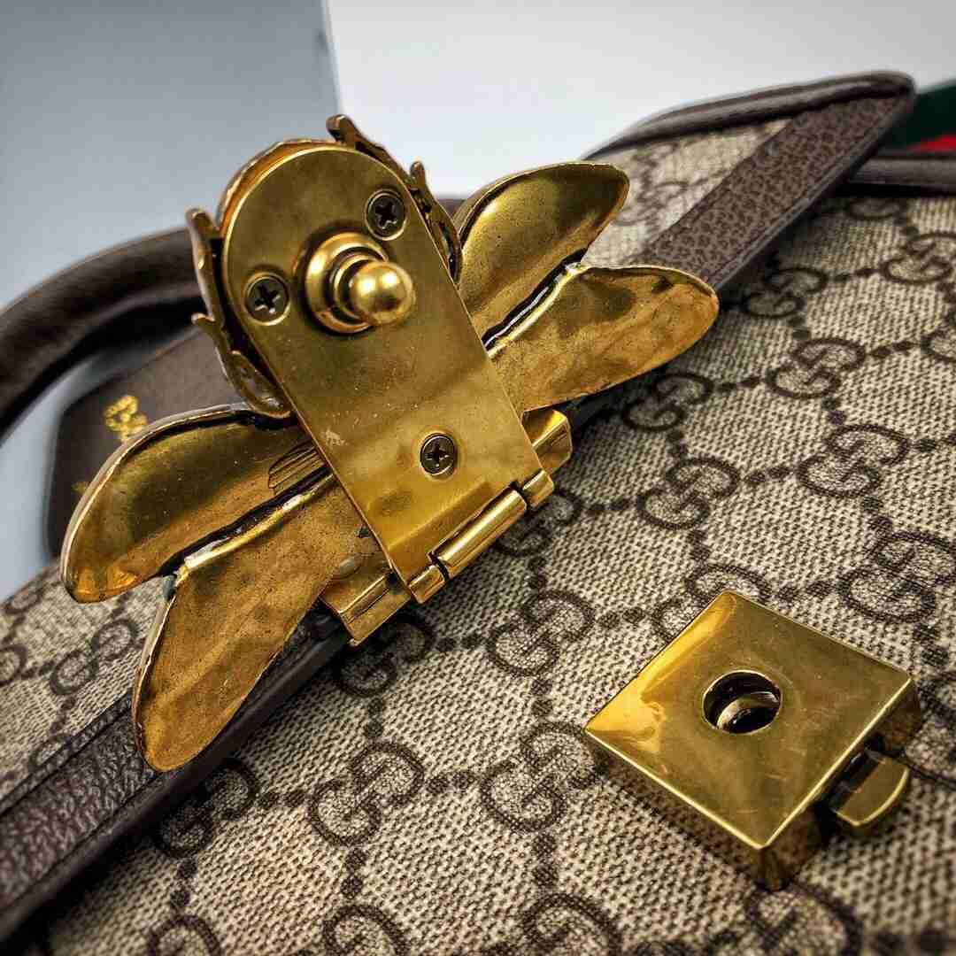 Gucci/古驰 19FwNight Courrier系列立体小蜜蜂手提单肩包 大号