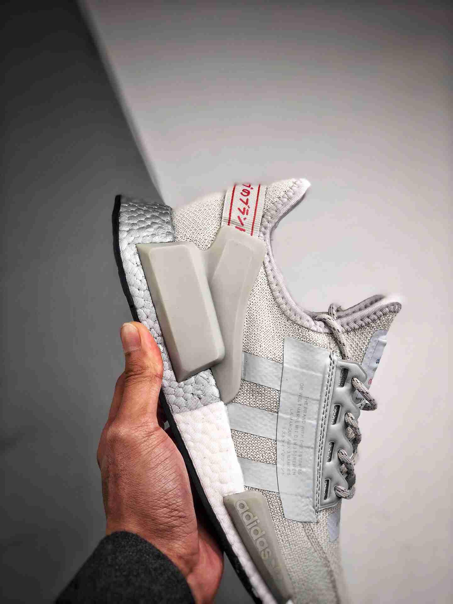 Adidas NMD _R1 灰白袜子
