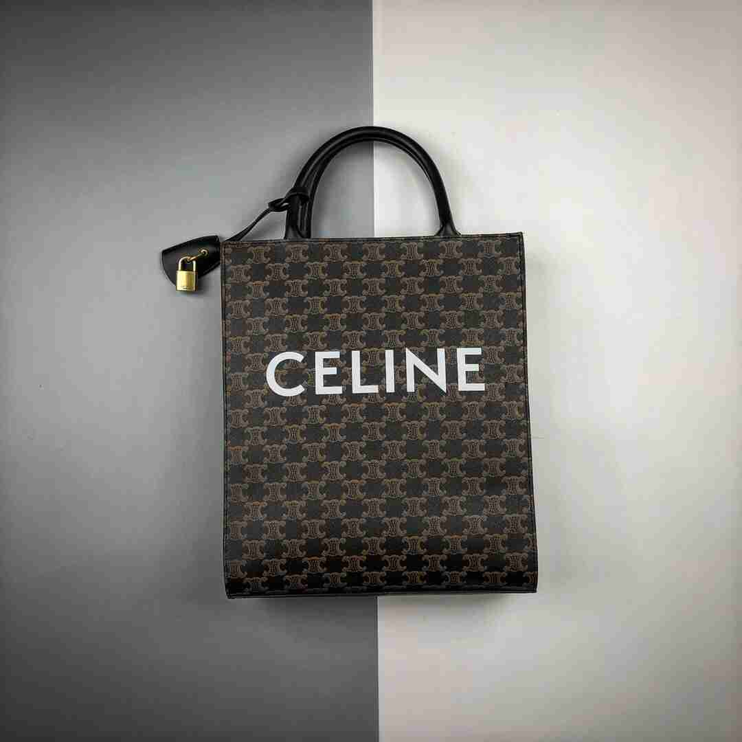 Cèline/赛琳 19Fw Triomphe凯旋门经典老花印花手提单肩包