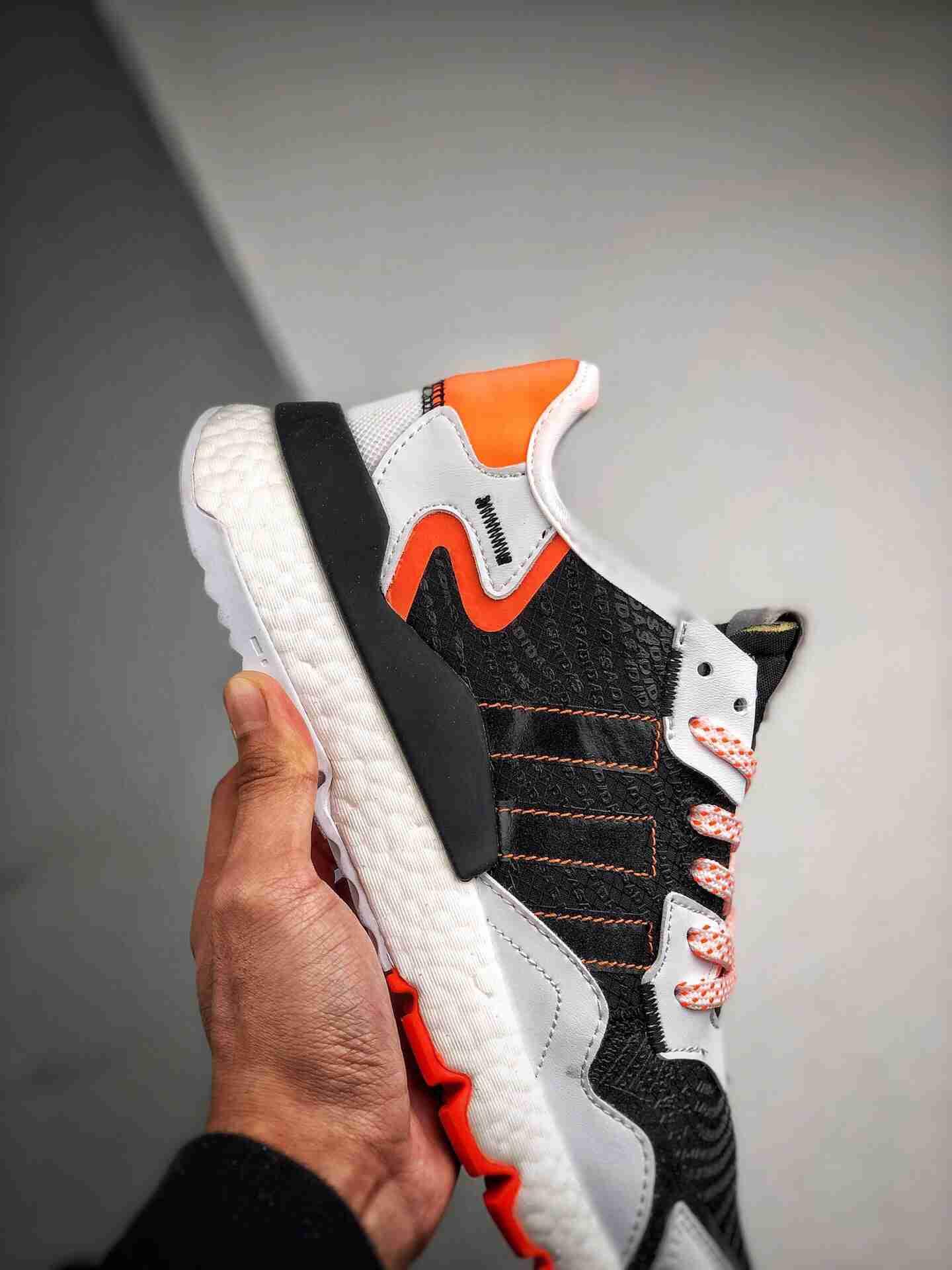 Adidas Nite Jogger 2019 Boost 黑橘3M反光 联名夜行者
