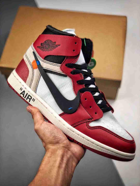 【OG纯原版本 终端供应】 Air Jordan 1 x OFF-WHITE 白红芝加哥