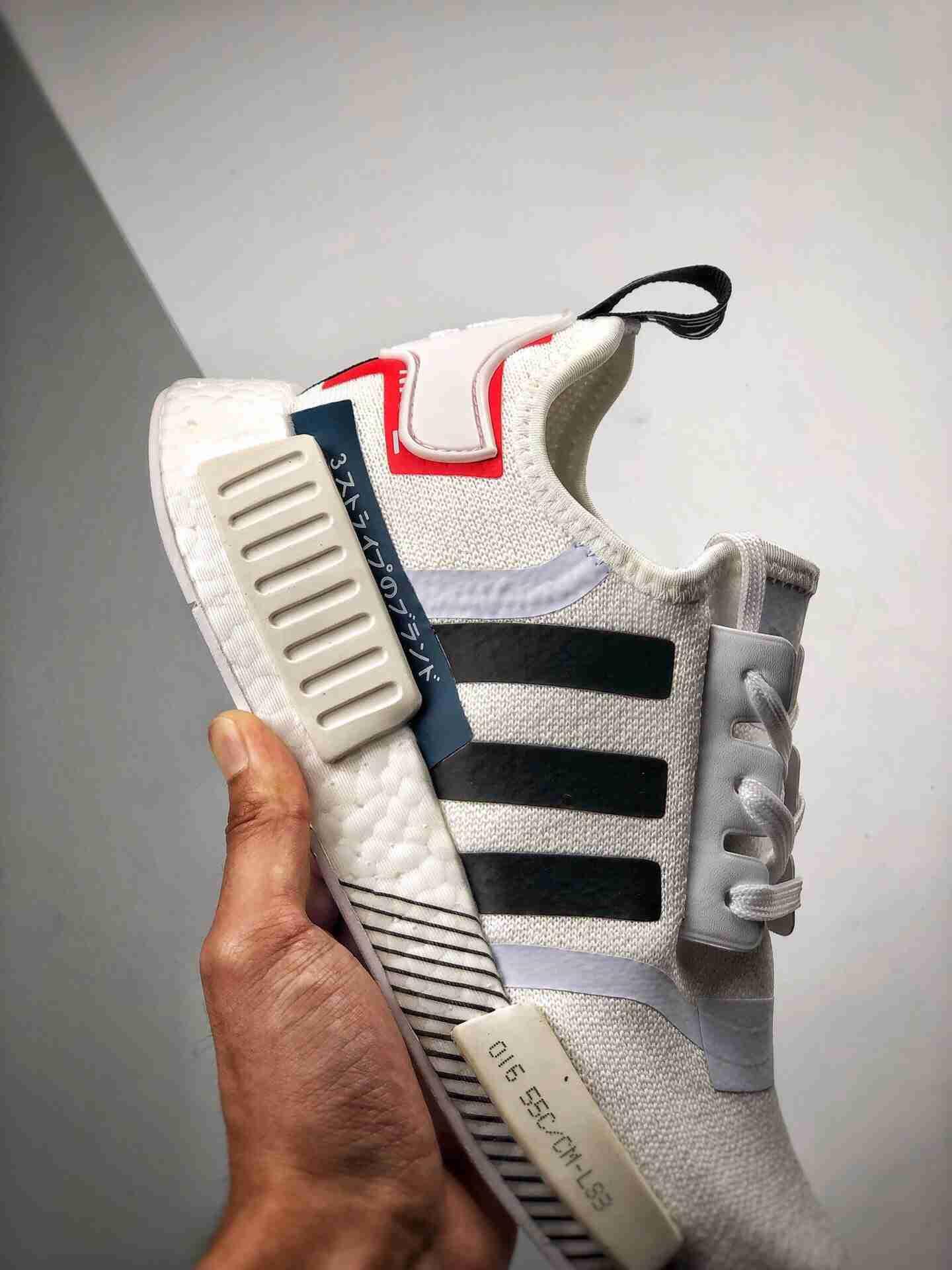 Adidas NMD _R1  黑白拼接 虎扑版本