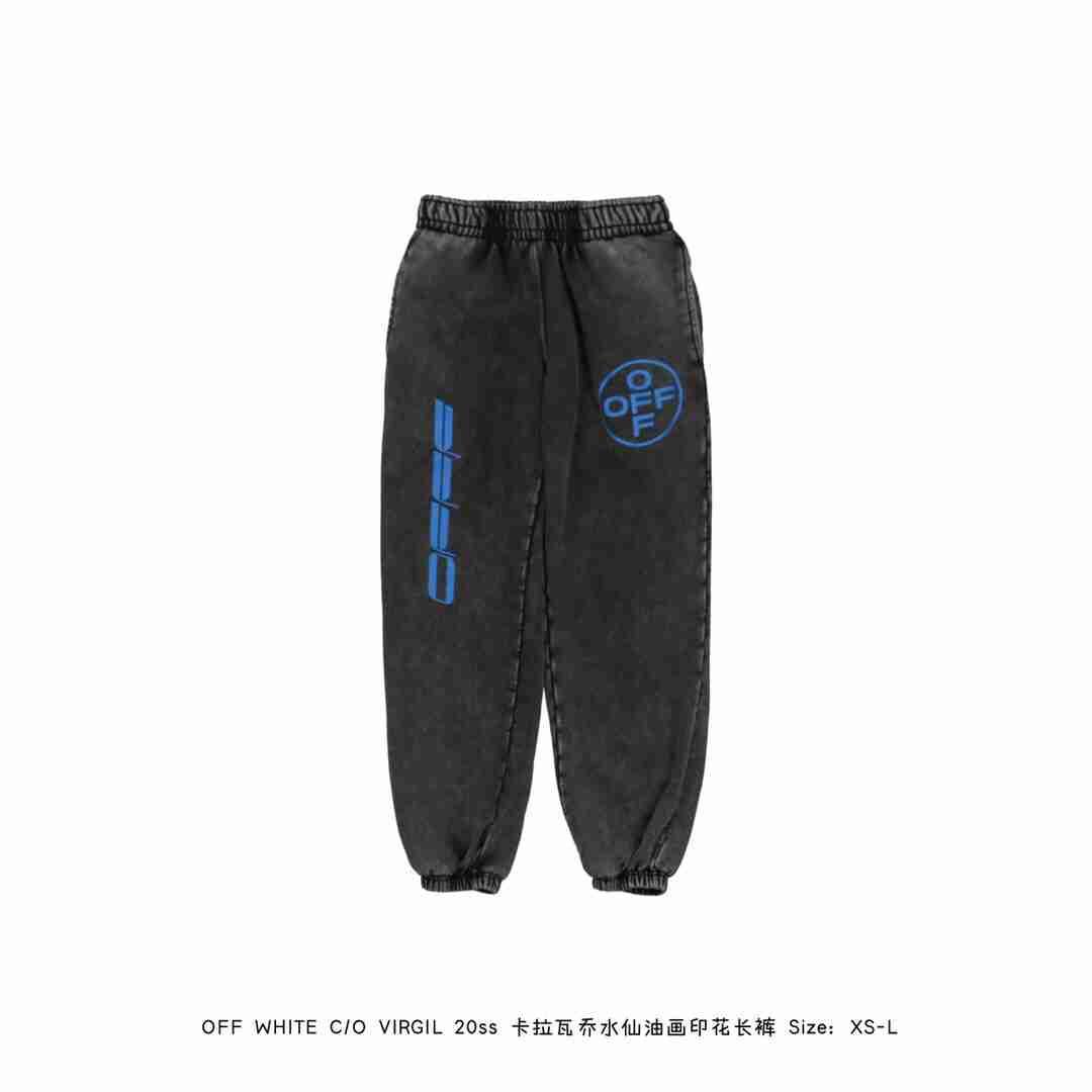 OFF WHITE C/O VIRGIL 20ss 卡拉瓦乔水仙油画印花长裤
