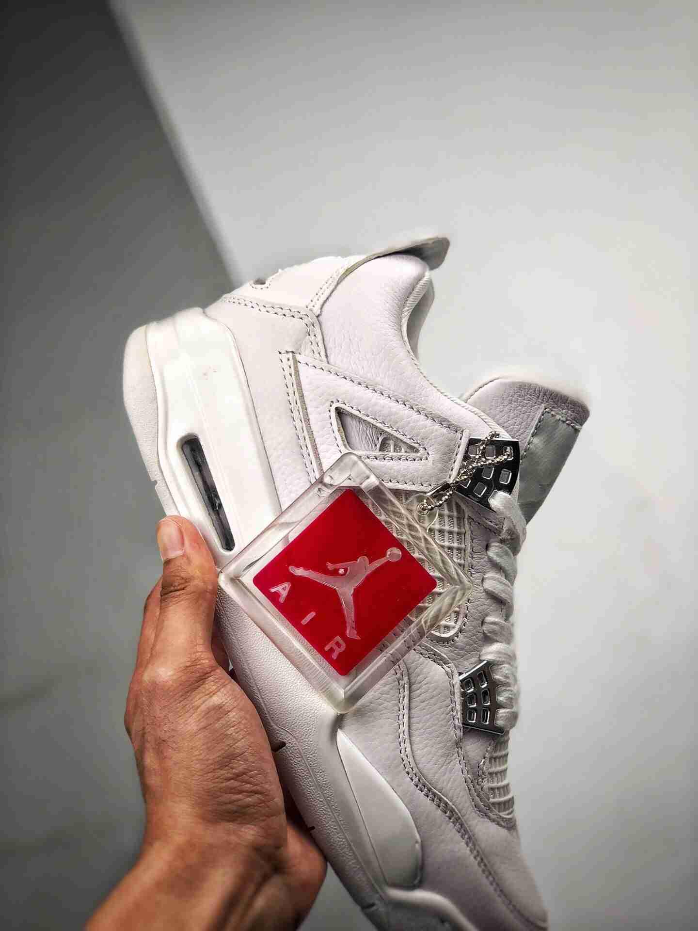 "Air Jordan 4 ""Pure Money""  4白猫"