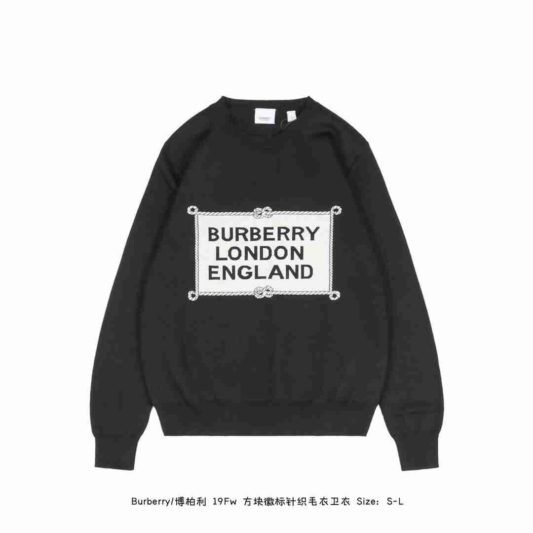 Burberry/博柏利 19Fw 方块徽标针织毛衣卫衣