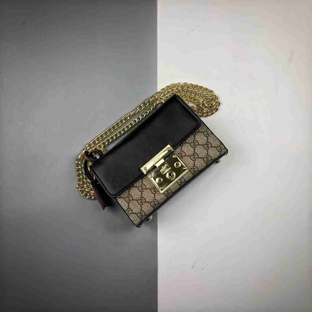 Gucci/古驰 20ss Padlock系列锁扣链条单肩斜挎包