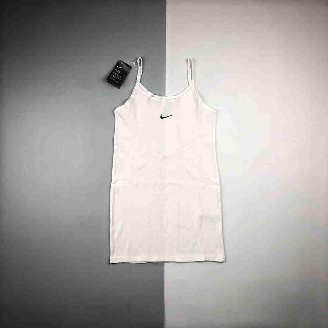 Nike/耐克  20ss Dress 经典Swoosh刺绣修身背心裙