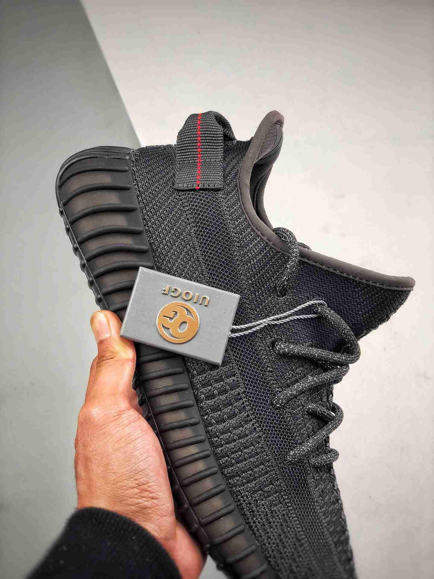 "OG纯原 Adidas 350V2 Boost ""Black"" 官方发售配色黑天使"