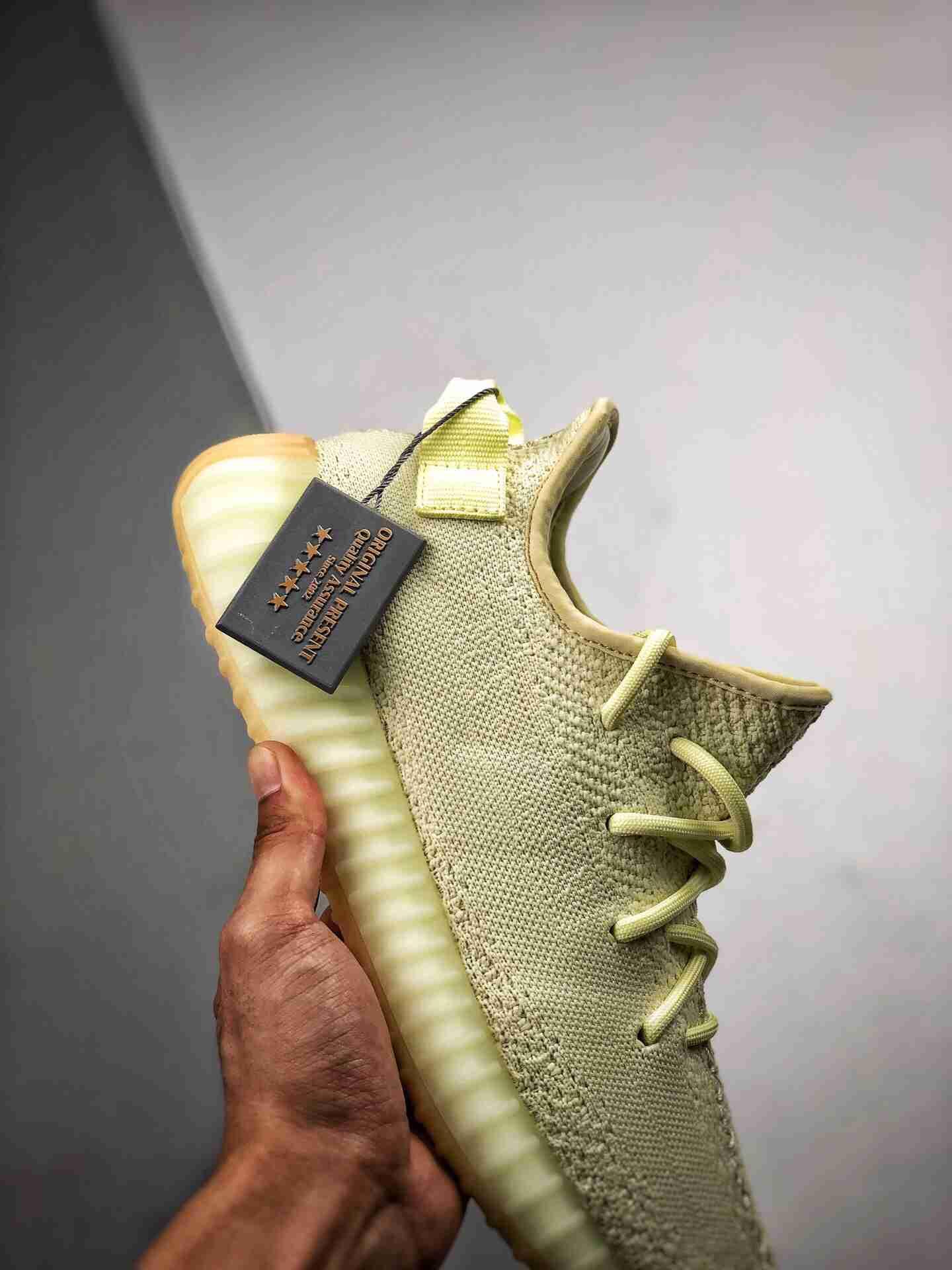 """OG纯原 Adidas YEEZY 350 V2 """"Buttert"""" 官方发售配色:F36980 黄油"""