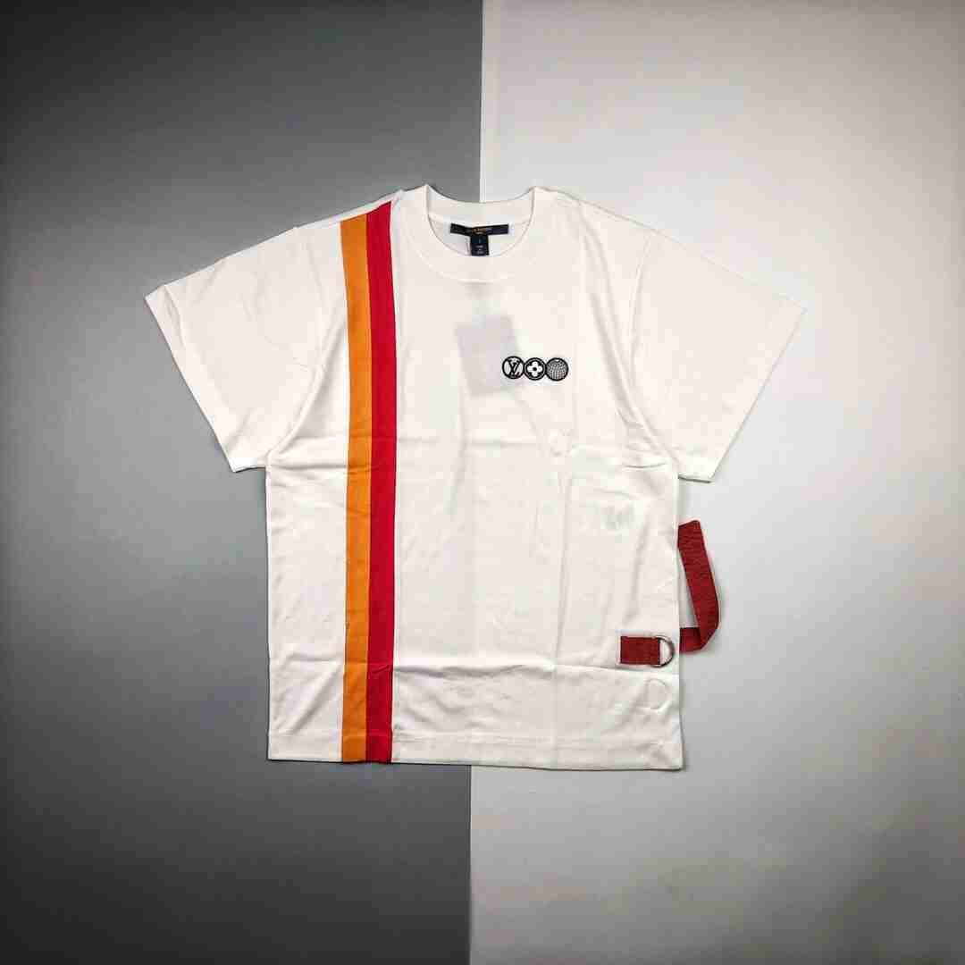 驴牌 20ss 创意拼接圆领短袖T恤