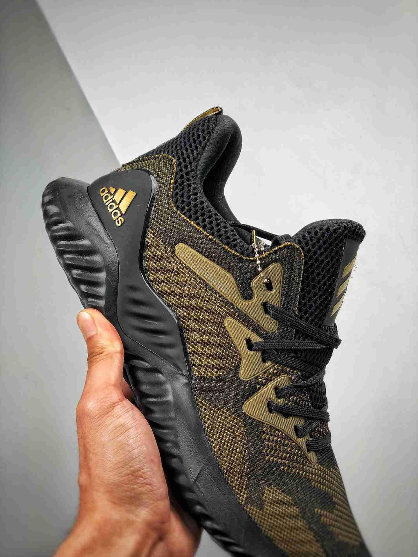 Adidas AlphaBounce HPC AMS 3M反光 阿尔法三代 黑金