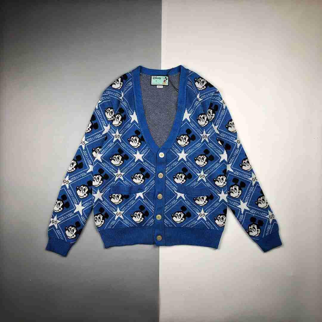 Guc x Dsn 20ss 蓝色米奇开衫毛衣