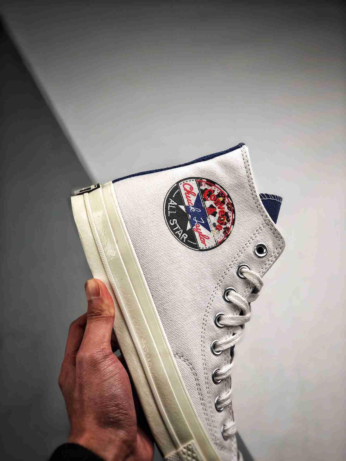 Converse Chuck 1970s 黑标豹纹 拼接高帮帆布鞋男女板鞋