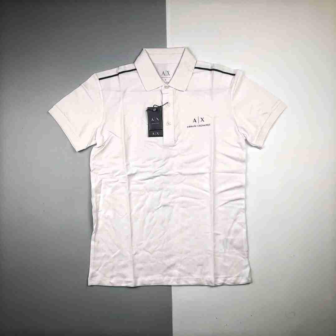 🔝ARMANIM阿玛尼 A丨X系列2020ss新款春夏翻领胸前刺绣字母polo衫短袖T恤