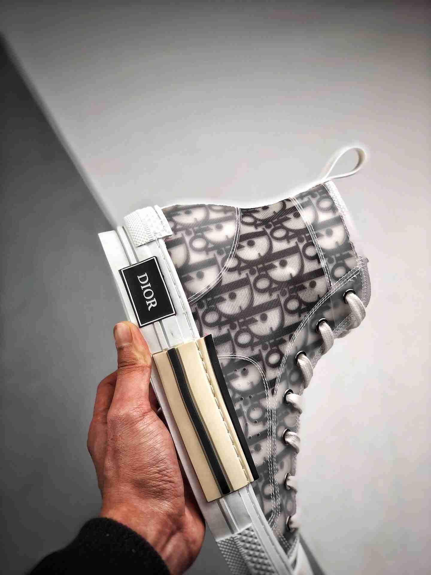 "Dior B23 Oblique High Top Sneakers 迪奥""CD重影""全套原装配件"