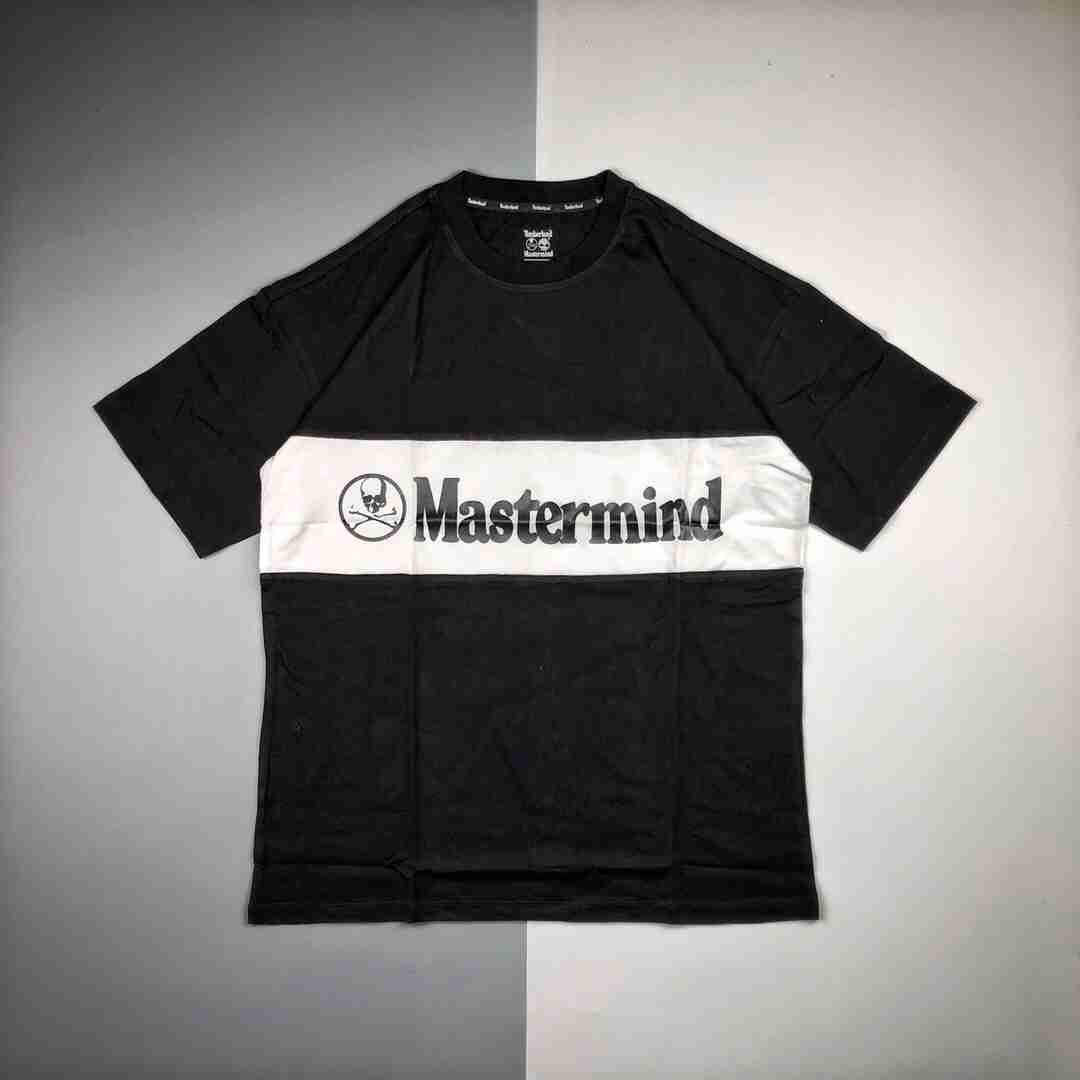 Mastermind WORLD & Timberland联名 19Fw 黑白拼色徽标印花短袖