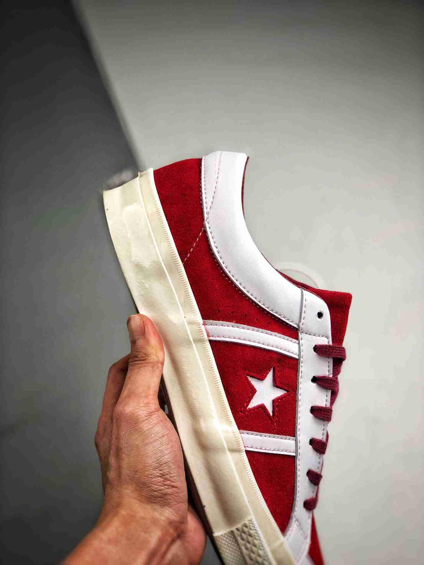 Converse OneStar复古白红、白蓝