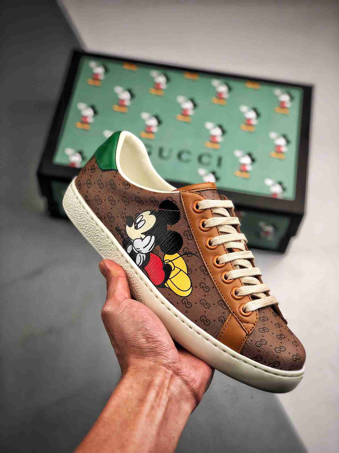 GUCCI Ace Embroidered Low-Top 迪士尼联名 米老鼠90周年限定