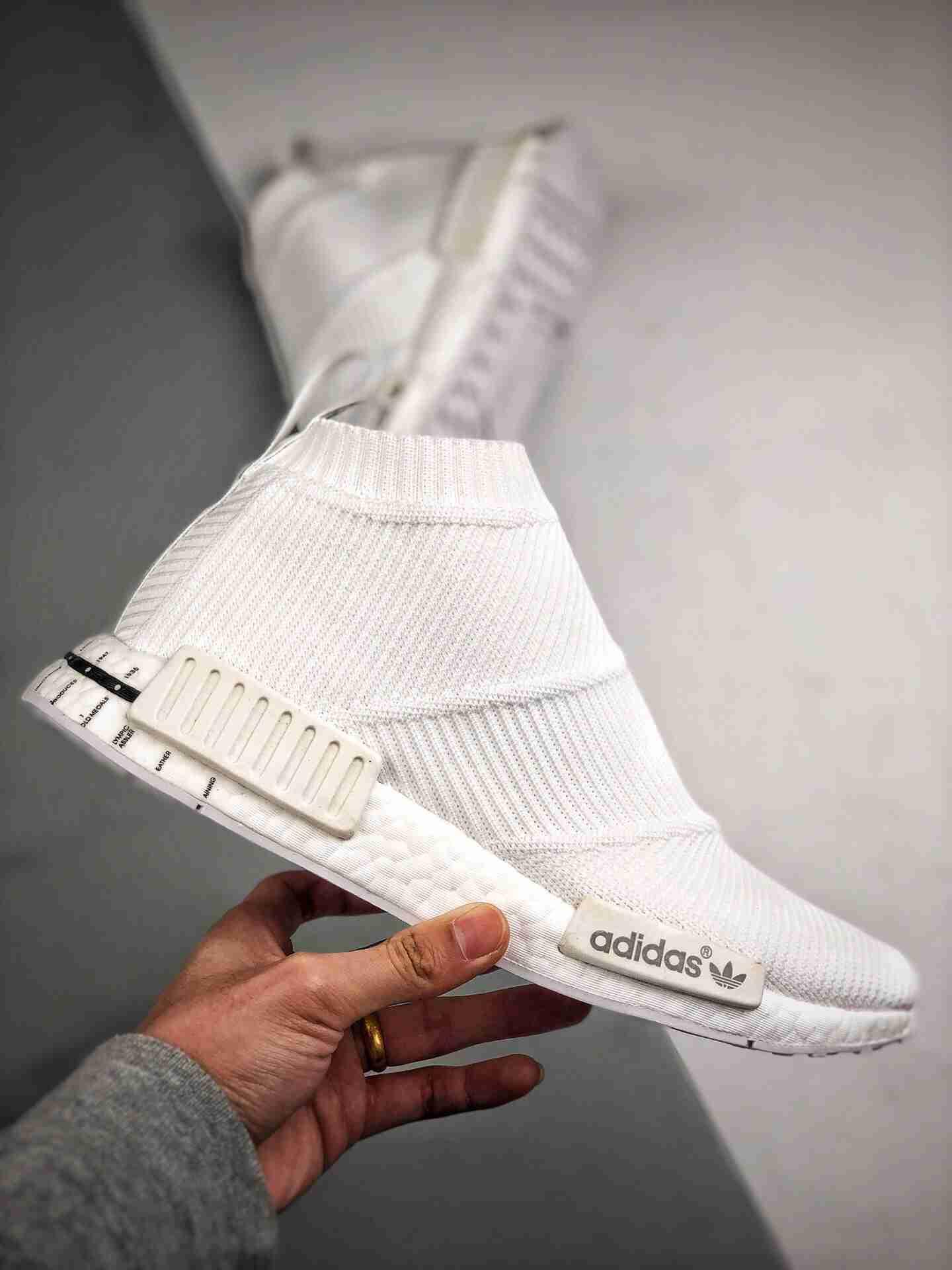 Adidas NMD Sock Mid 纯白日文